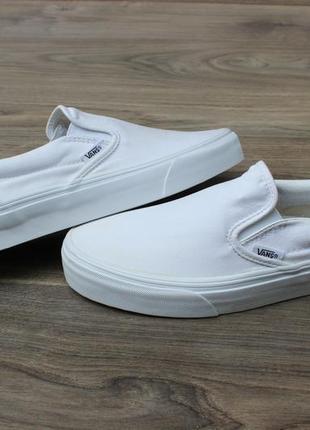 Слипоны кеды vans white classik 39 размер