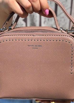 Сумка через плечо кросс-боди david jones 5806-1 пудровый/розовый3 фото