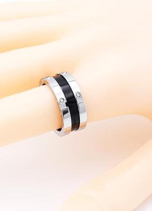 Кольцо колечко нержавеющая сталь серебро черное