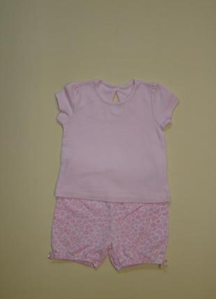 Милый комплект малышке 1-2 года футболка george+ шортики под памперст / блумеры george