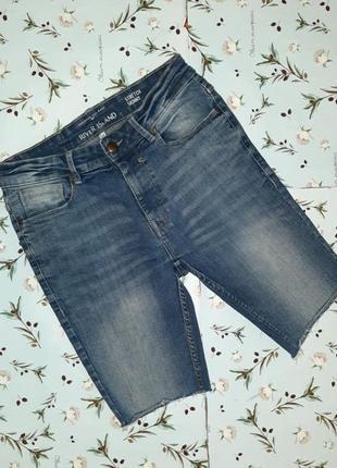 Акция 1+1=3 фирменные узкие джинсовые шорты river island, размер 42 - 44