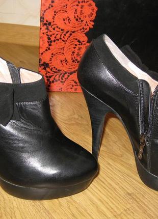 Кожаные ботинки mia may