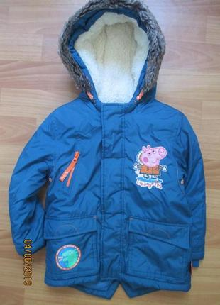 Зимня курточка-парка nutmeg на 3-4 года