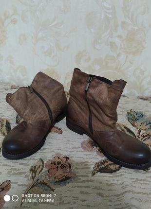 Кожаные ботинки vero cuoio