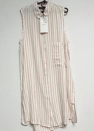 Рубашка платье в полоску bershka
