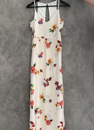Летнее платье «zara» в цветочный принт