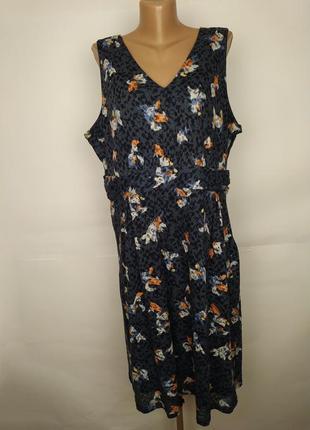 Платье красивое v-образный вырез большой размер marks&spencer uk 20/48/3xl