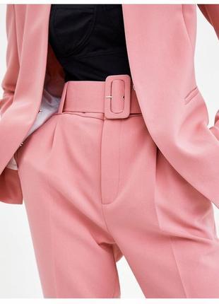 Костюм брючный пиджак жакет брюки высокая посадка костюм zara