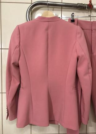 Костюм брючный пиджак жакет брюки высокая посадка костюм zara3 фото