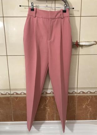 Костюм брючный пиджак жакет брюки высокая посадка костюм zara4 фото
