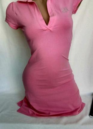 Короткое трикотажное спортивное платье в розовом цвете р. xs - нюансы, от armani exchange