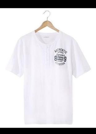 Хлопковая белая футболка livergy германия