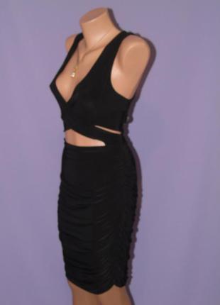 Новое черное платье 14 размера1 фото