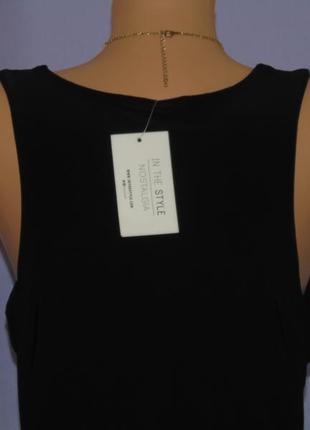 Новое черное платье 14 размера6 фото