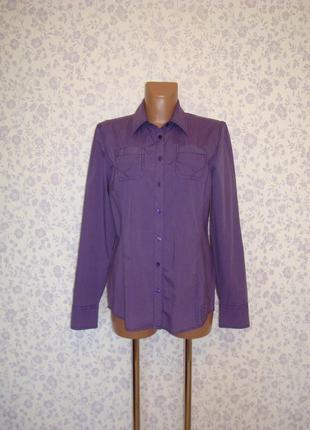 Размер 12 рубашка в полоску, приталенная