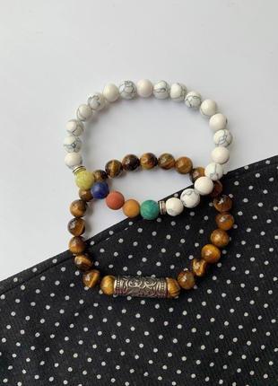 Набор браслетов, женский браслет из натуральных камней, парные браслеты женские