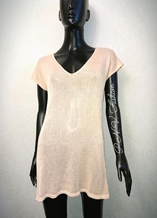 Удлиненная футболка туника платье