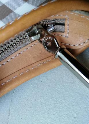 Burberry сумочка кроссбоди. кожа, канва4 фото