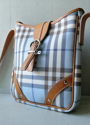 Burberry сумочка кроссбоди. кожа, канва1 фото