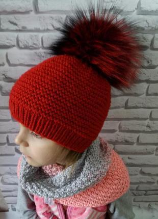 Вязаная шапка, зимова шапка