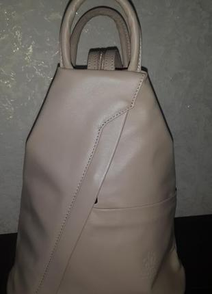 """Стильный кожаный рюкзак"""" vera pelle"""" италия!"""