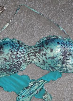 Бирюзовый верх (лиф) от купальника calzedonia cobey