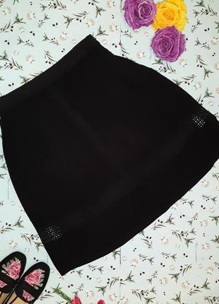 Акция 1+1=3 фирменная черная юбка с прошвой ichi, размер 46 - 48