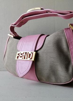 Fendi компактная сумка, кожа, италия