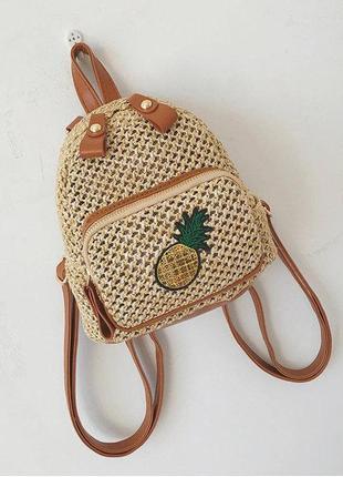 Плетеный мини рюкзак