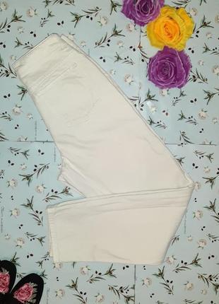 Акция 1+1=3 крутые белые мом mom рваные высокие джинсы asos, размер 42 - 44