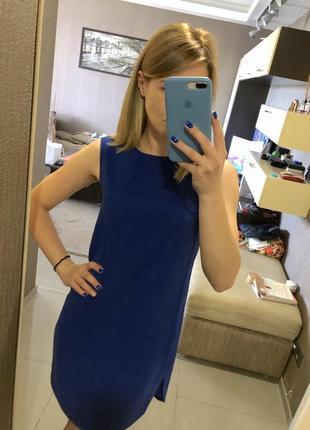 Синее платье zara