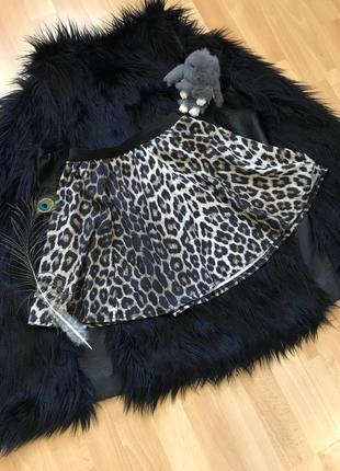 Юбка леопард хс