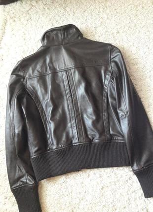 Куртка кожаная бомбер4 фото