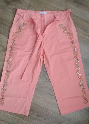 Новые коралловые брюки сasual comfort, амер. размер 30, наш примерно 66-68