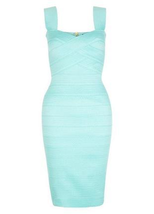 Новое бирюзовое бандажное платье new look4 фото