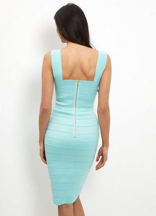Новое бирюзовое бандажное платье new look3 фото