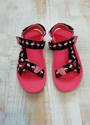 Яркие босоножки/сандали doodles с фламинго на липучках