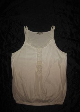 Размер m-l. нежная блузка-топ с макраме и градиентом