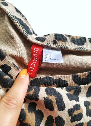 Трендовый свитшот в леопардовый принт с надписью spoilt h&m divided7 фото