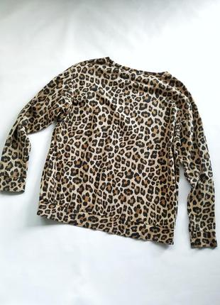Трендовый свитшот в леопардовый принт с надписью spoilt h&m divided8 фото