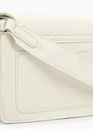 Сумка через плечо с вышивкой, кросс-боди david jones 5997 белая5 фото