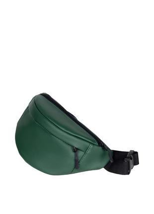 Новая женская бананка/сумка на пояс, плече с экокожи зеленого цвета