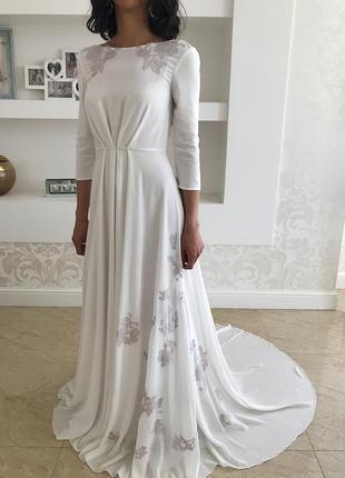 Очень красивое дизайнерское свадебное платье😍 от cathy telle