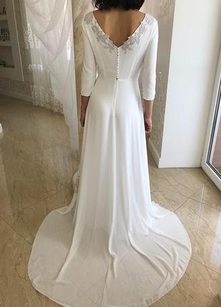 Очень красивое дизайнерское свадебное платье😍 от cathy telle4 фото