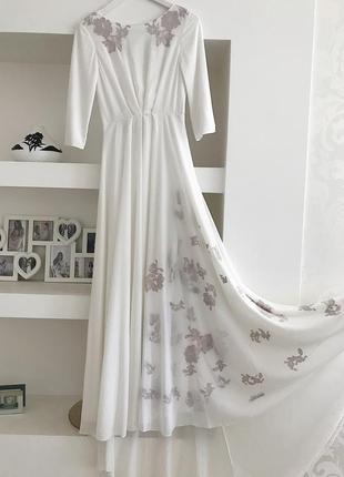 Очень красивое дизайнерское свадебное платье😍 от cathy telle5 фото