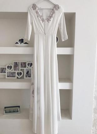 Очень красивое дизайнерское свадебное платье😍 от cathy telle6 фото