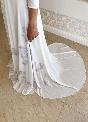 Очень красивое дизайнерское свадебное платье😍 от cathy telle7 фото