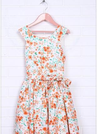 Нежное хлопковое платье в цветочек