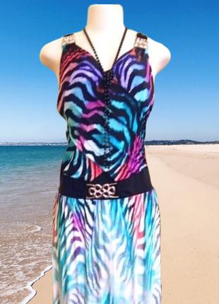 Изумительное макси платье-сарафан  poliit с открытой спиной, размер s-m италия.