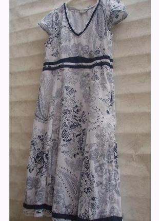 Per una платье летнее коттон р.16 uk l-50-44 дышащее идеальное